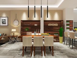 现代简约三居之家餐厅设计图