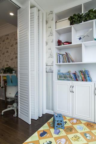 130㎡美式装修阳台书柜图片