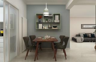 三居室现代简约设计餐厅背景墙图片