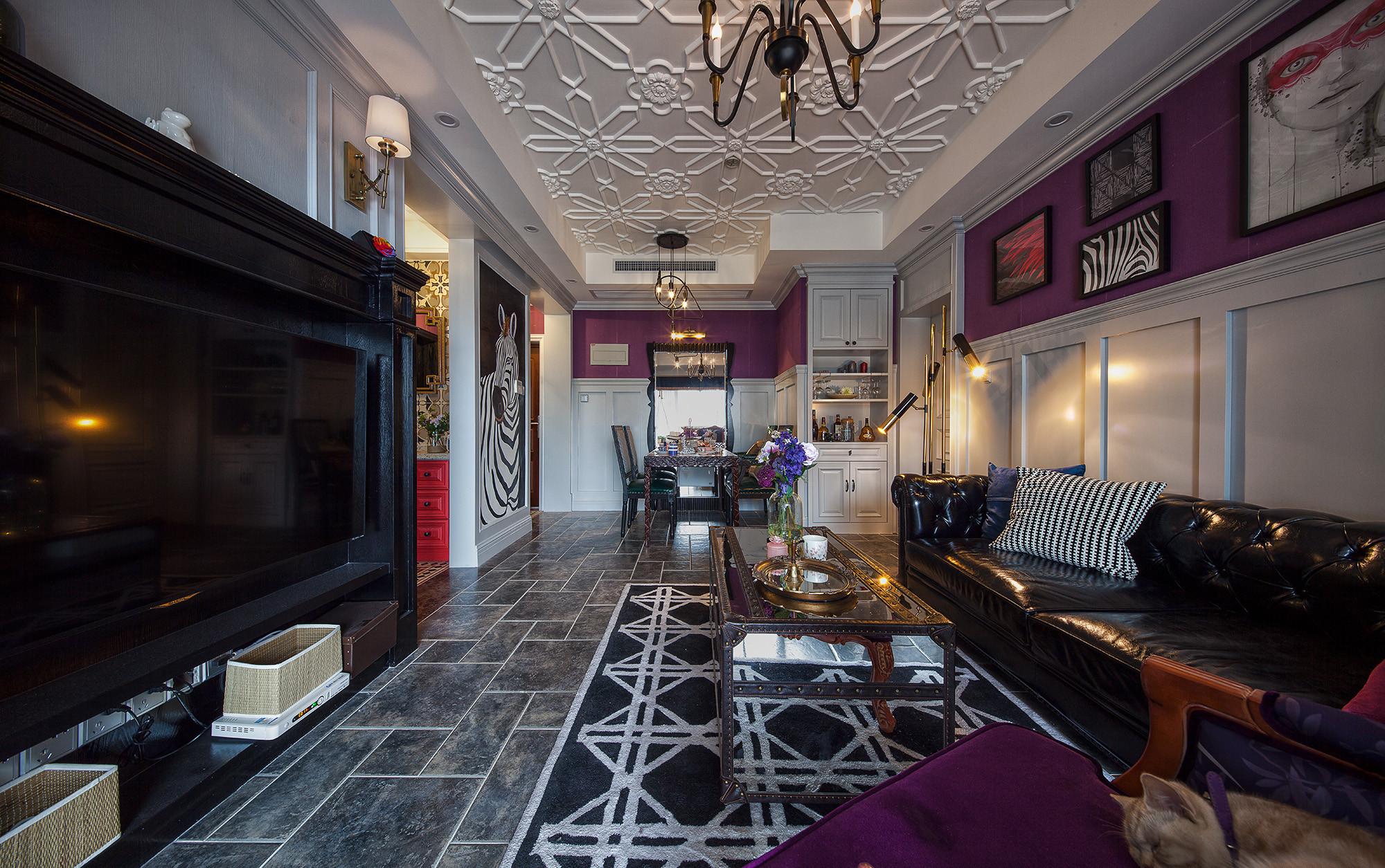 二居室美式装修客餐厅效果图
