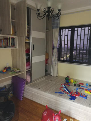 110平简约三居室装修儿童房实景图