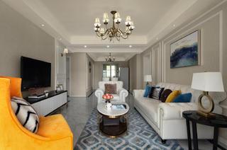 120平现代美式家地毯图片