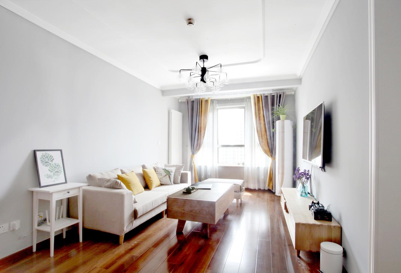 北欧二居室空间客厅效果图