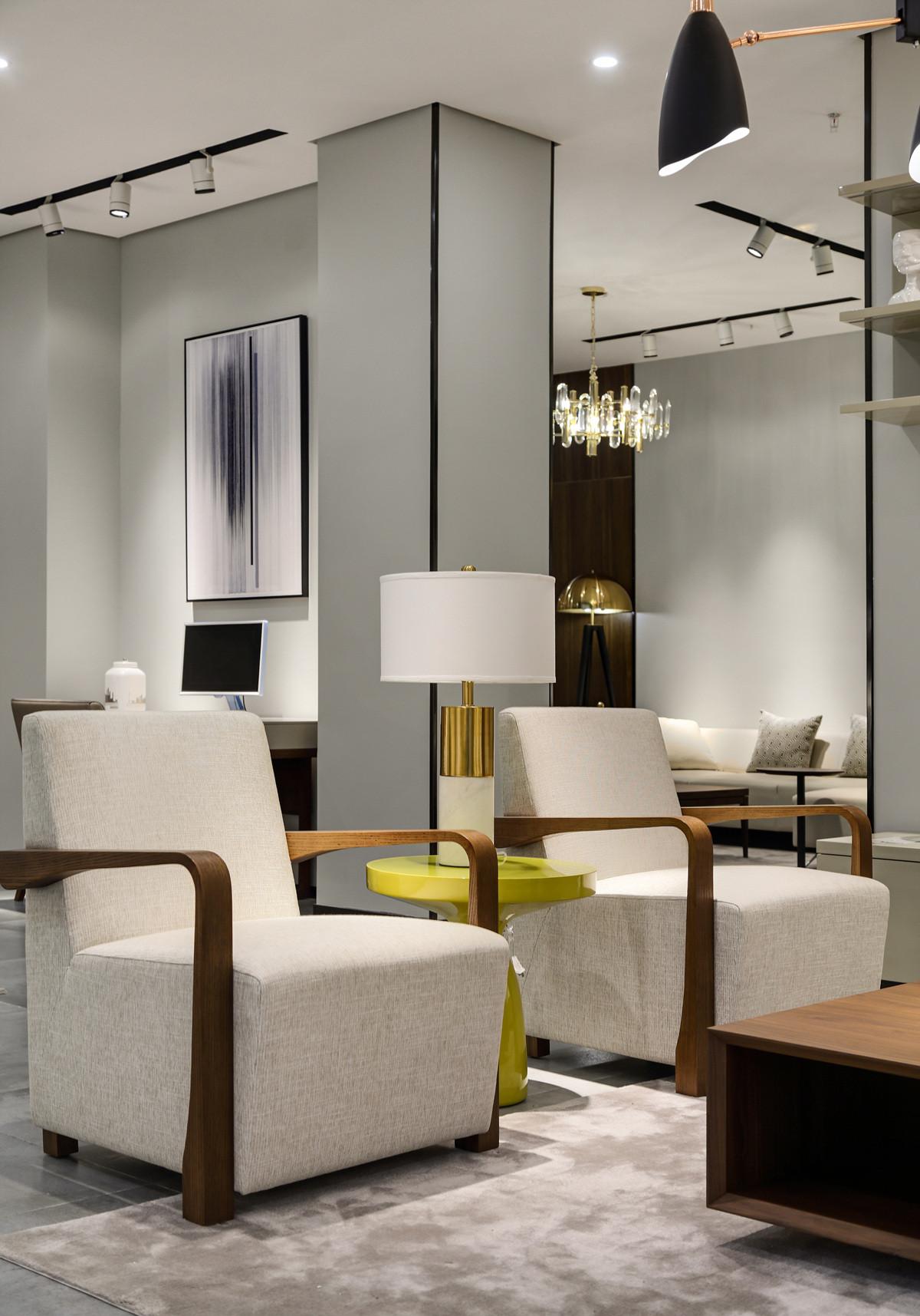 家装展厅装修单人椅图片