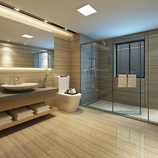 140平新中式卫生间设计图