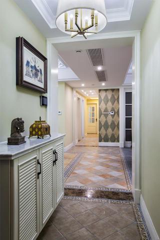 美式四居装修门厅布置图