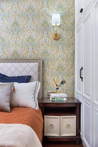 美式四居装修床头背景墙图片