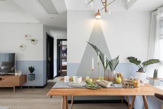 98㎡北欧风格家餐厅布置图