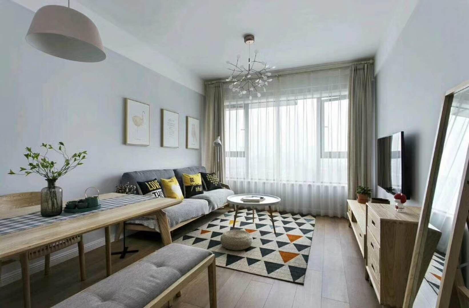 北欧二居室装修客厅效果图
