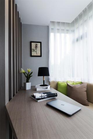 二居室现代简约空间书桌图片