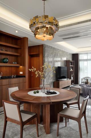 大户型现代风格设计餐桌图片