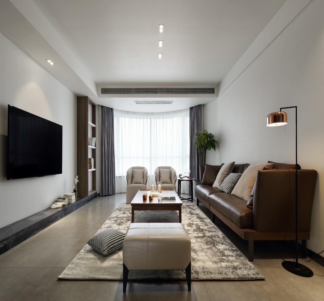 简约弧形空间装修客厅效果图