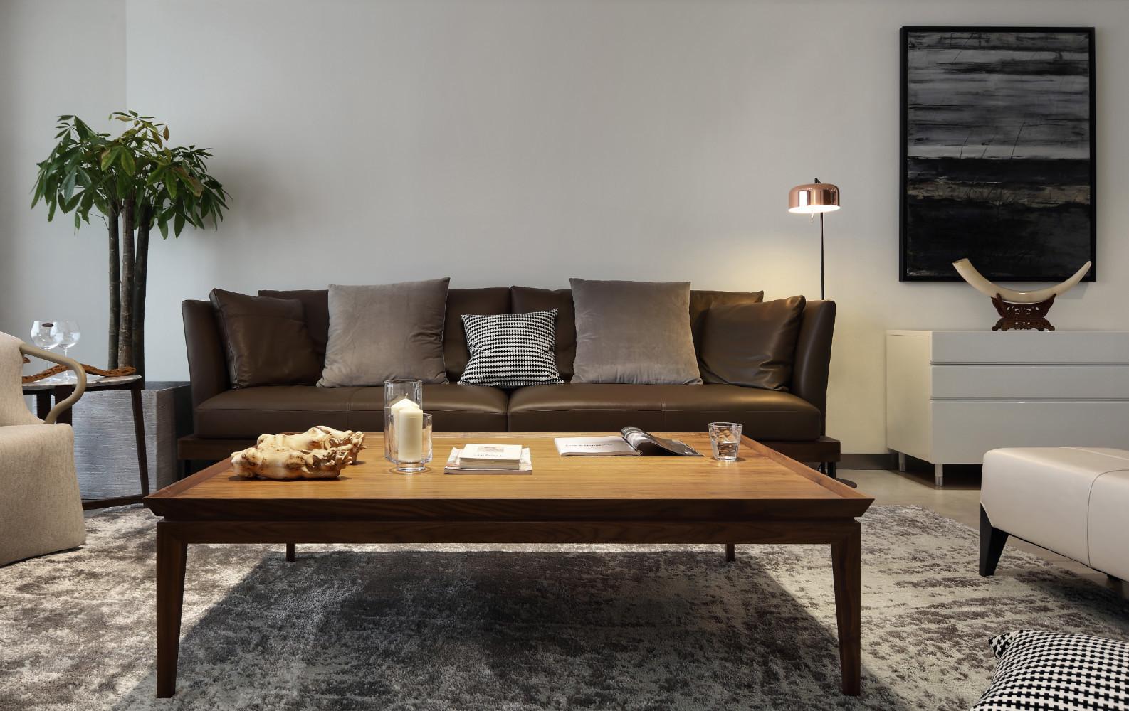 简约弧形空间装修沙发图片