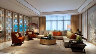 豪华中式别墅装修客厅布局图