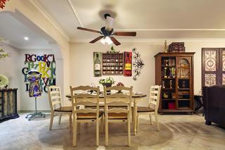 145㎡美式风格家餐厅背景墙图片