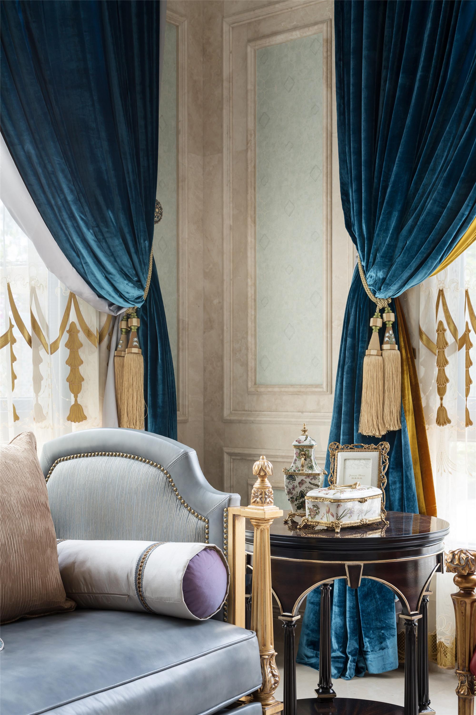混搭别墅装修窗帘图片