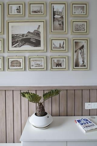 美式三居室裝修墻壁掛畫