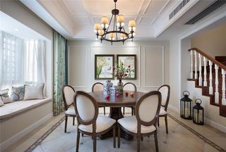 美式别墅装修餐厅设计图