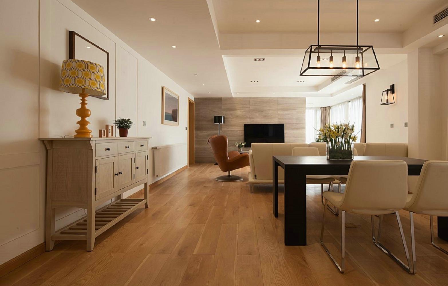 三居室现代简约装修餐厅效果图