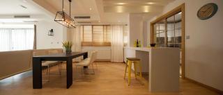 三居室现代简约装修吧台图片