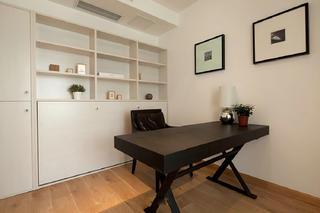 三居室现代简约装修书房效果图