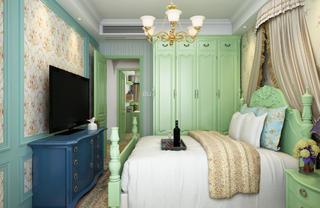 二居室美式田园家卧室设计图