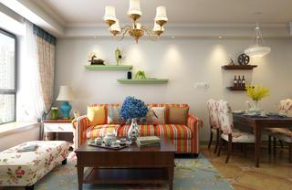 二居室美式田园沙发图片