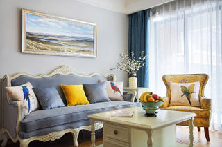 三居室简约美式之家沙发图片