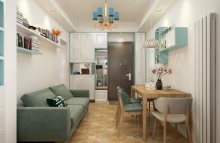 63平二居室混搭装修鞋柜图片