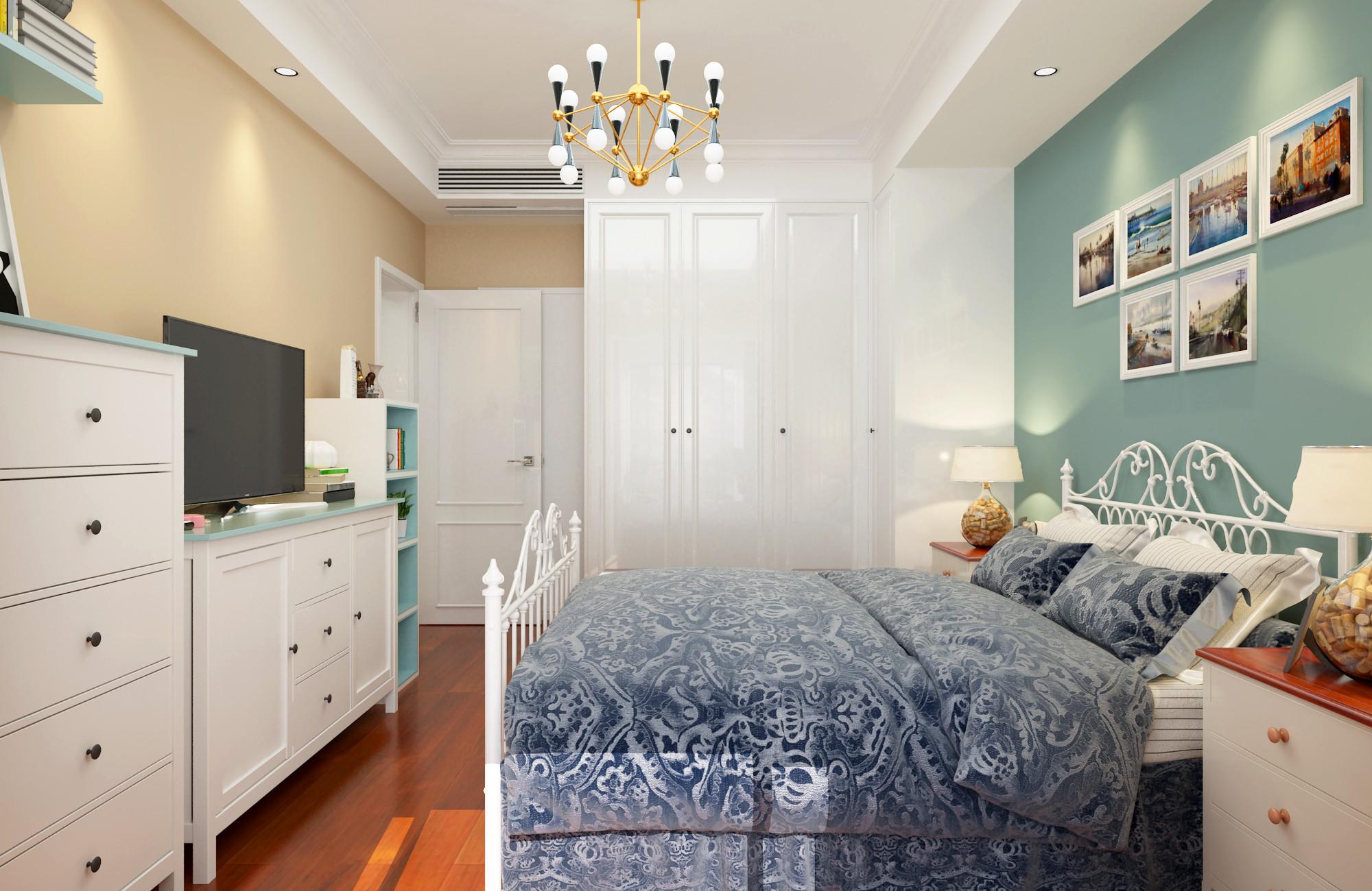 63平二居室混搭装修卧室效果图
