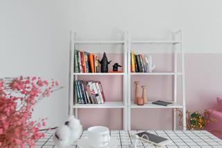 60平北欧风公寓装修书架图片