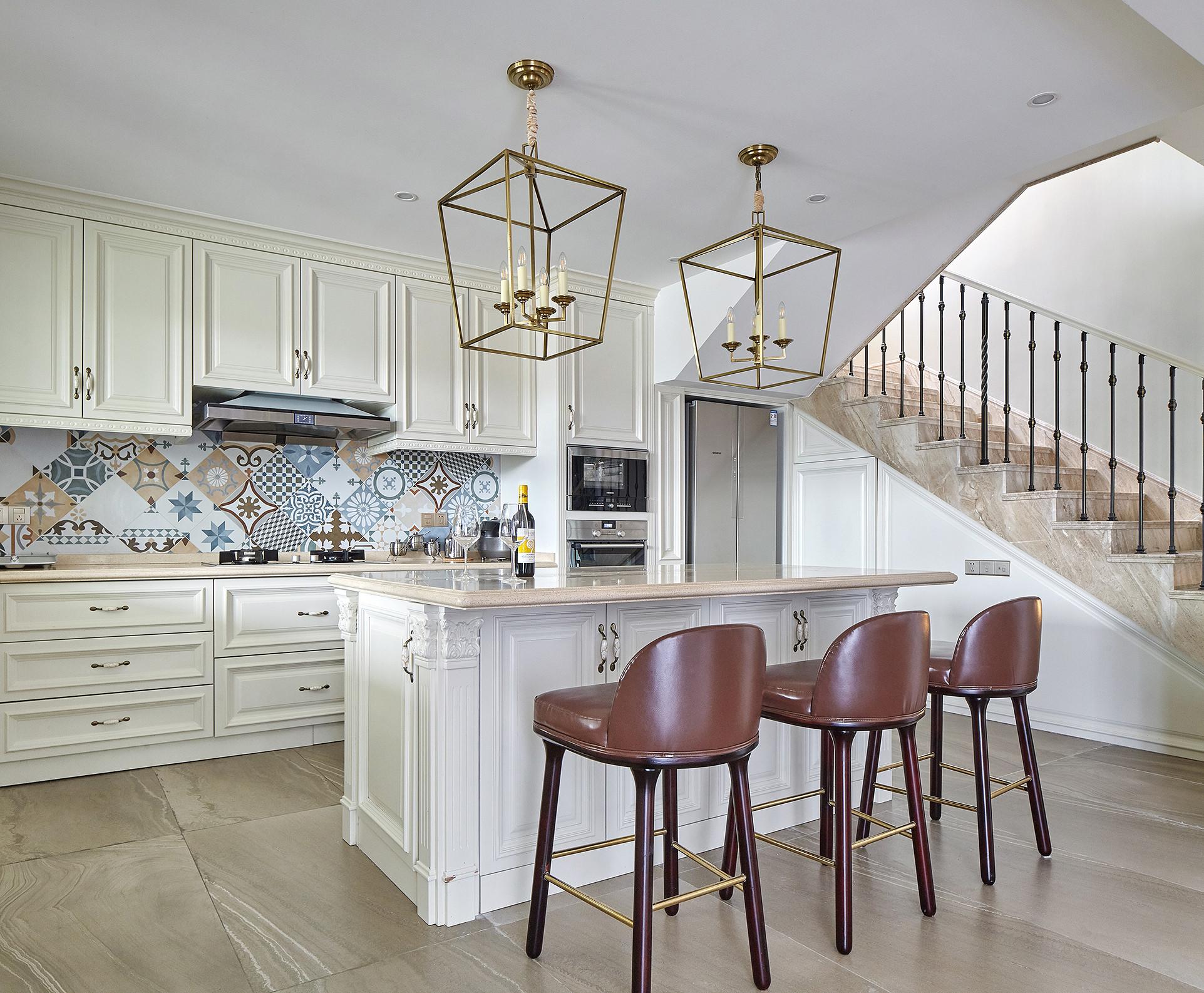 欧式别墅装修厨房效果图