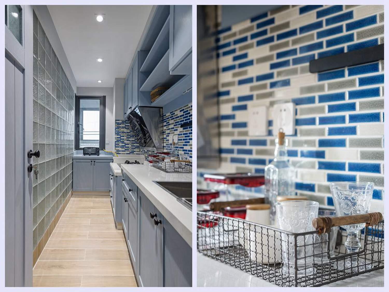 72平一室一厅混搭装修厨房效果图