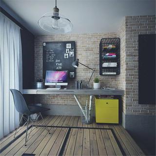 loft二居室装修书房工作区
