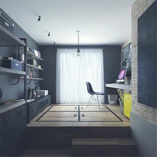 loft二居室装修书房布置图