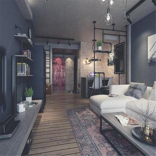 loft二居室装修设计 复古工业风