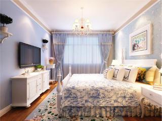 130平地中海风格家卧室背景墙图片