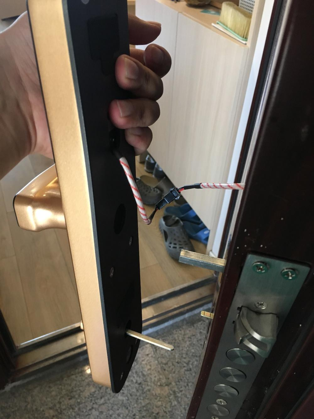 长沙雨花区朝晖路某客户指纹锁安装跟换案例,安装电话17769316451(图8)