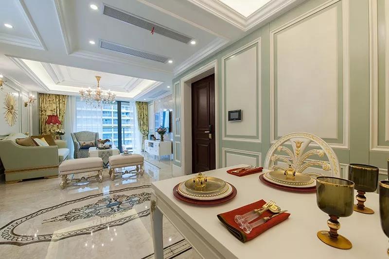 125㎡现代欧式三居室,用石膏线勾勒出古典层次,太美了
