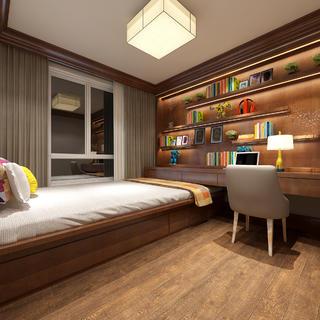 186平中式风格装修客房布置图