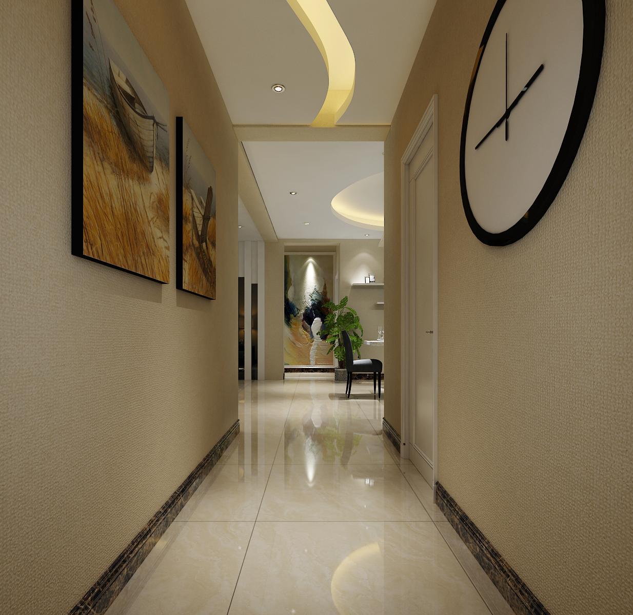 130㎡简约风格家玄关走廊图片