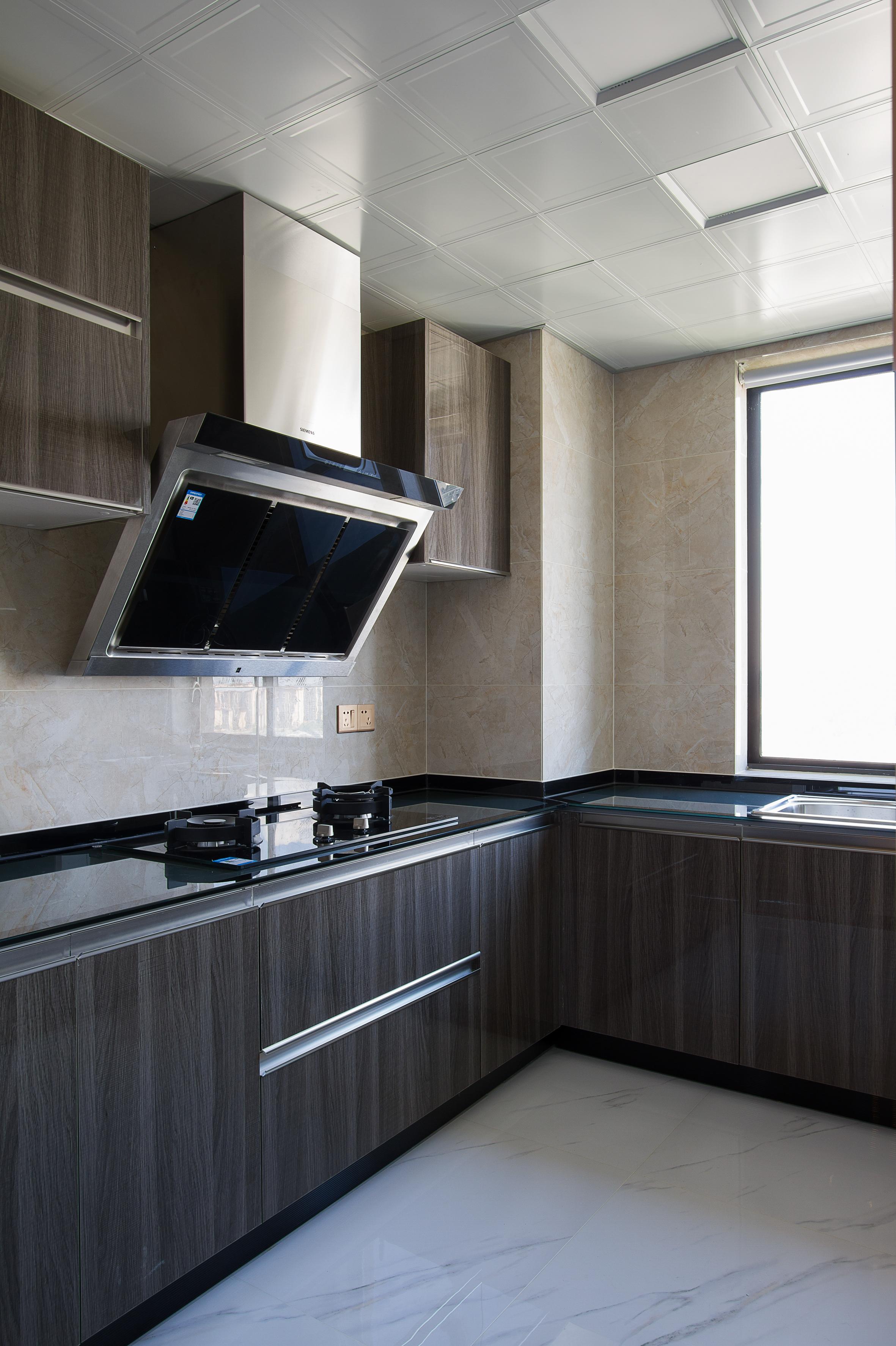 130㎡简约风格装修厨房设计图