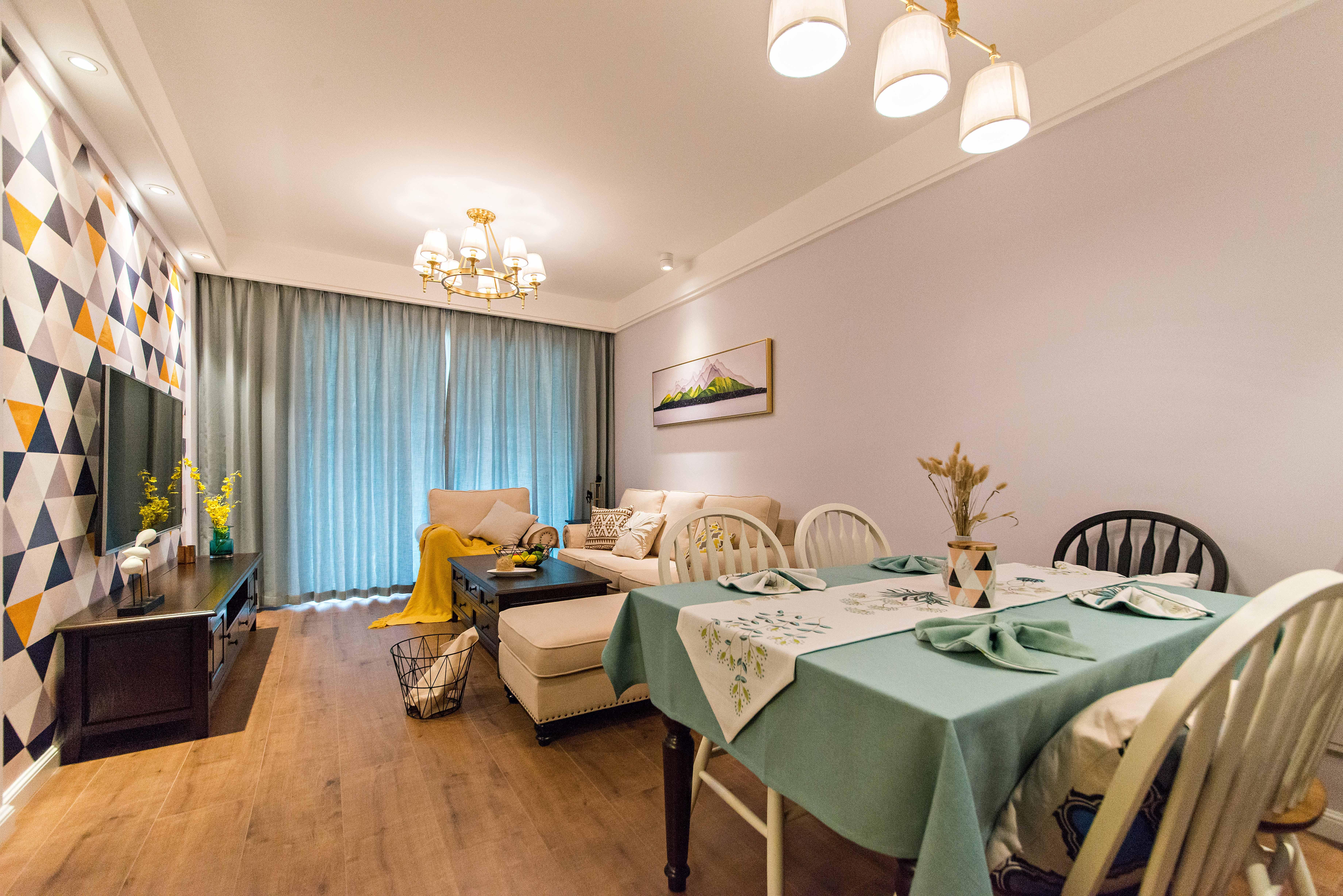 二居室现代美式家餐厅欣赏图
