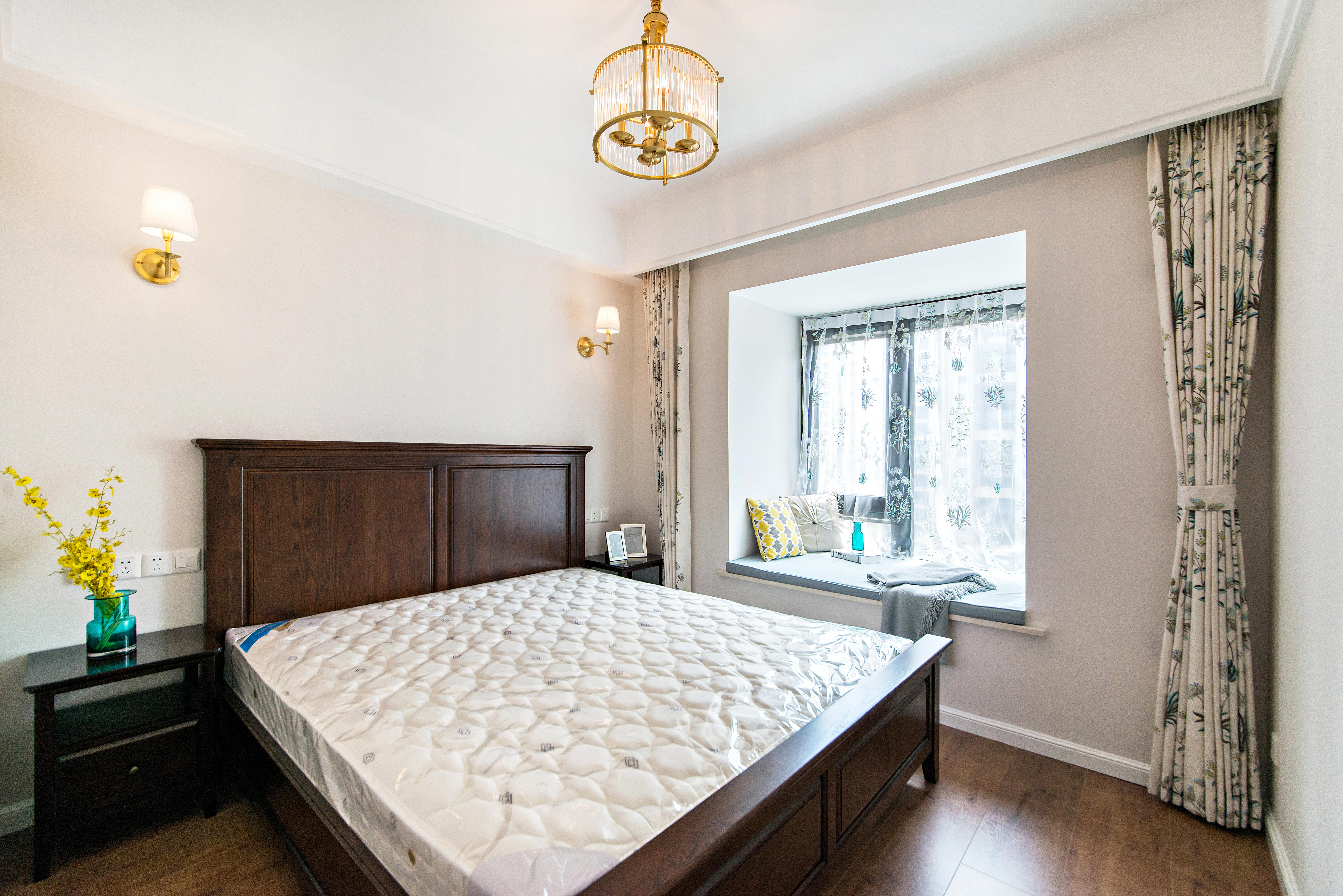 二居室现代美式家卧室效果图