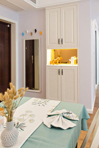 二居室现代美式家玄关柜图片
