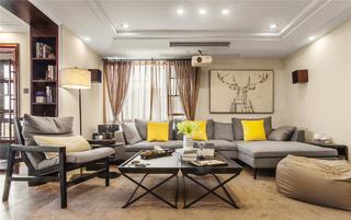 126平三居室装修沙发背景墙图片