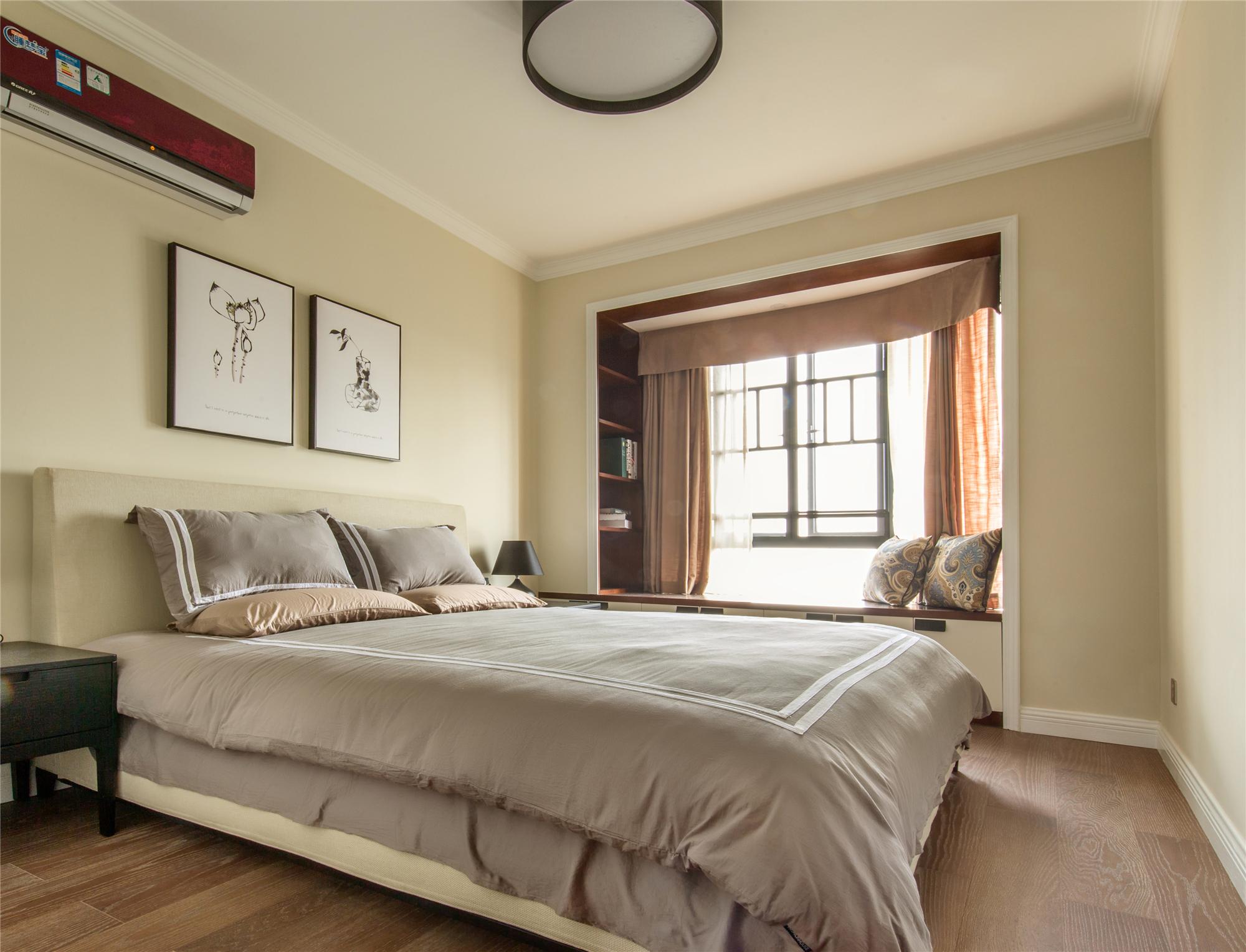 126平三居室装修次卧效果图