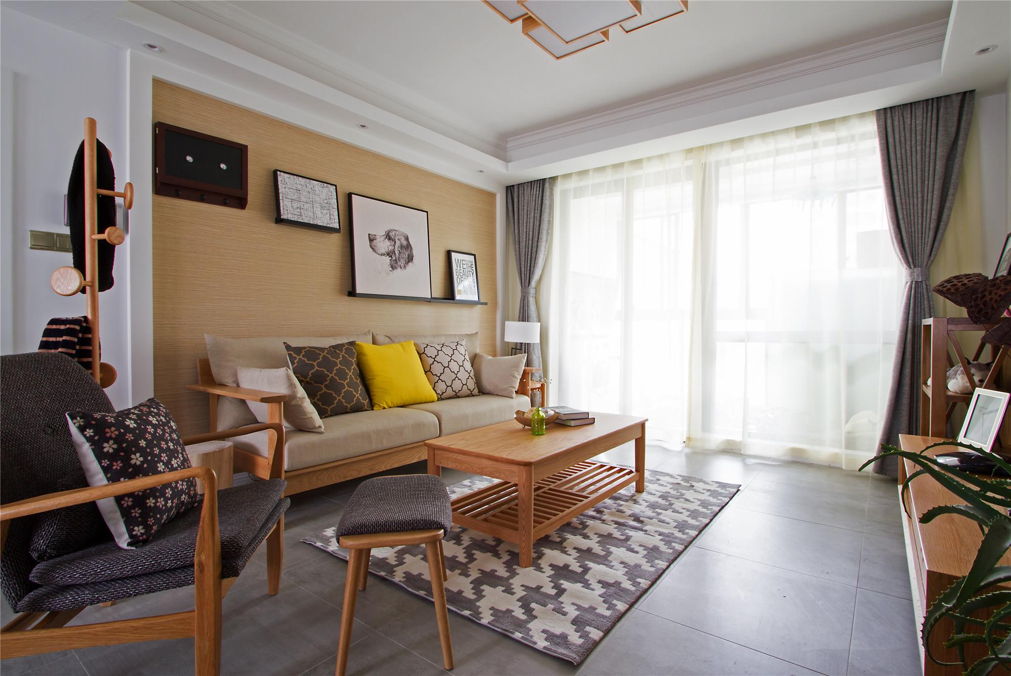 日式两居装修客厅效果图
