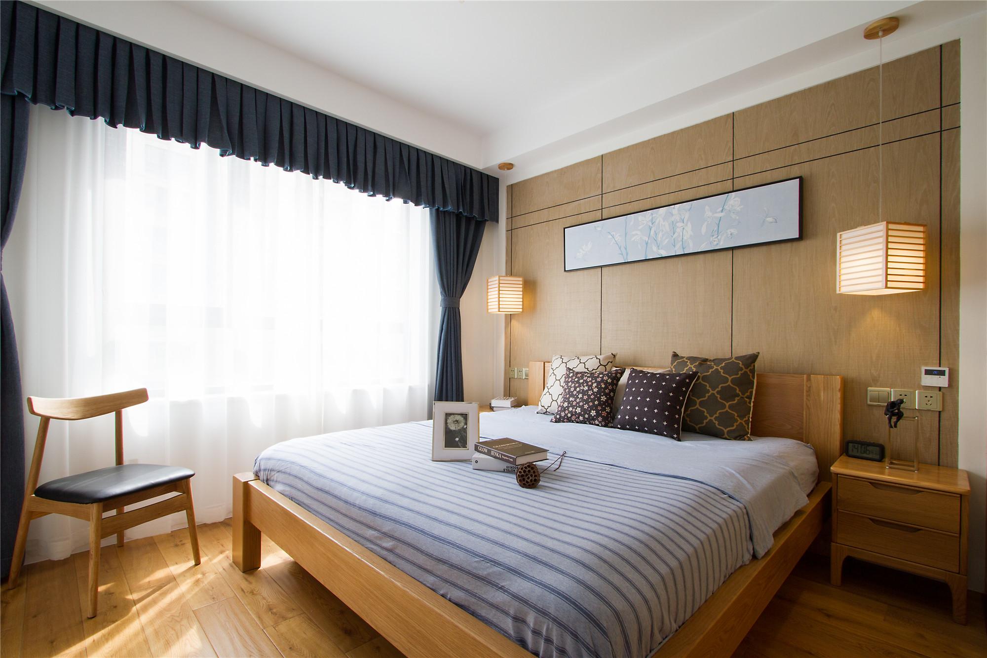 日式两居装修卧室效果图