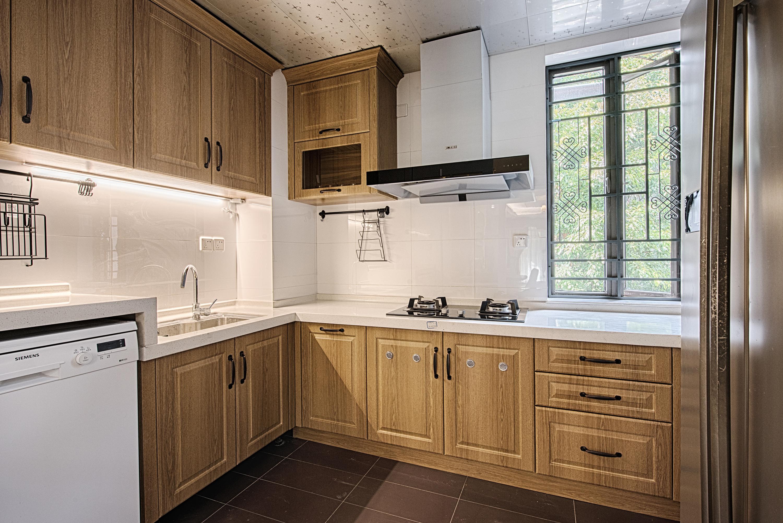 140㎡现代美式家厨房效果图